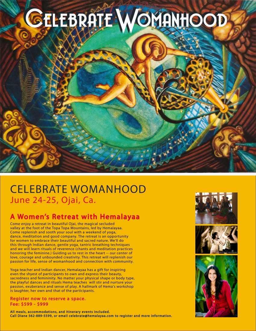 Hemalayaa Celebrate Womanhood Jun 24-25 Ojai