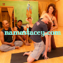 http://namastacey.com - Stacey Rosenberg delights in the practice of yoga and joyfully offers it to others. A certified Anusara yoga teacher since 2006, Stacey infuses each class with the biomechanical principles of the body and a celebration of life.
